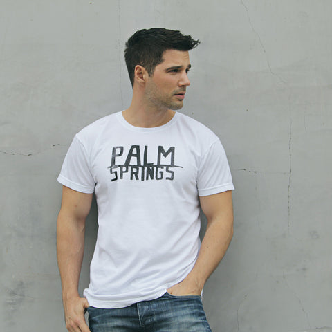 PALM SPRINGS- Black Short Sleeve T-shirt for Men and Women