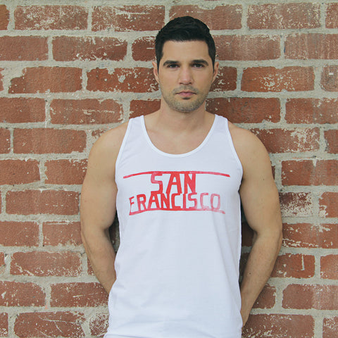 SAN FRANCISCO - White & Red tanktop - Unisex