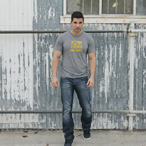 LOS ANGELES - Heather gray short sleeve T-Shirt