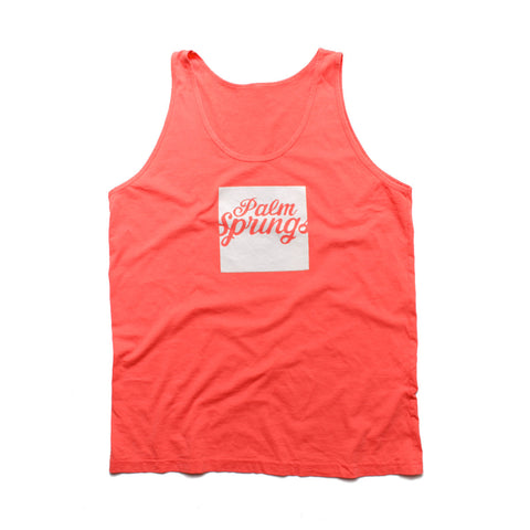 PALM SPRINGS - Peach Sleeveless tank top for Men and Women