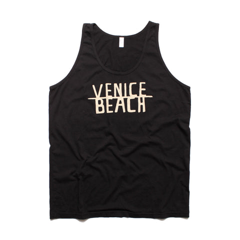 VENICE BEACH- Black Sleeveless tank top for Men and Women