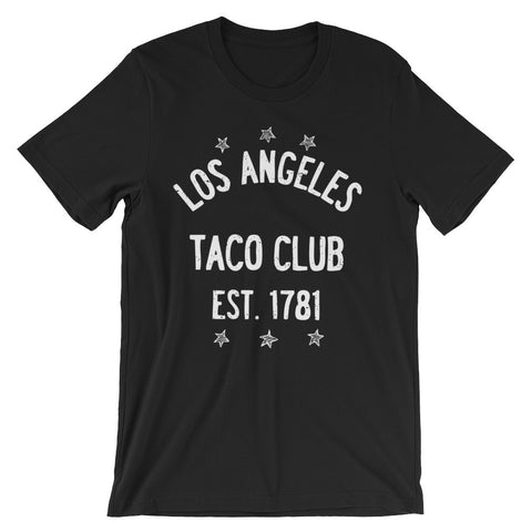 Los Angeles Taco Club - Black Unisex short sleeve t-shirt