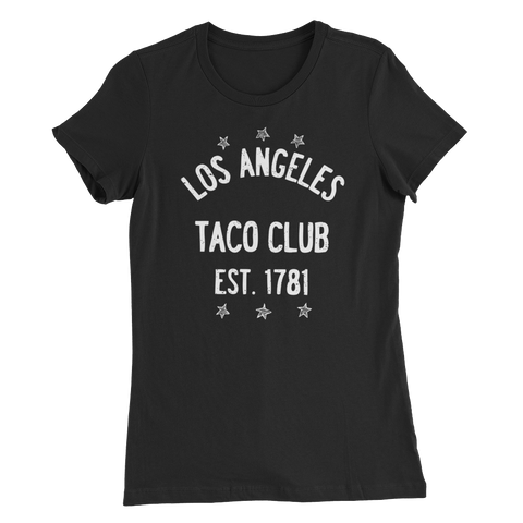 Los Angeles Taco Club - Black Women's Slim Fit T-Shirt