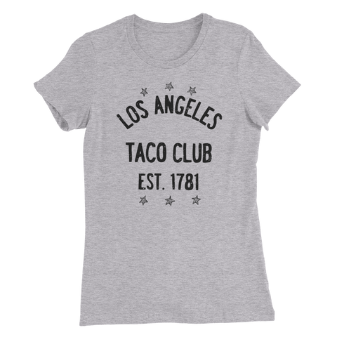Los Angeles Taco Club - Heather Grey Women's Slim Fit T-Shirt