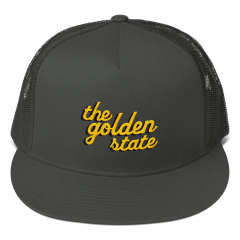 Golden State Trucker Cap - Charcoal