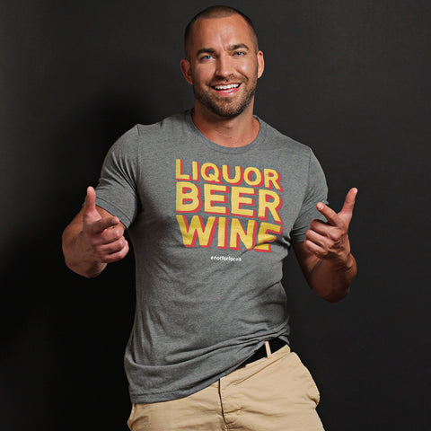 Liquor Beer Wine - Unisex Short Sleeve t-shirt