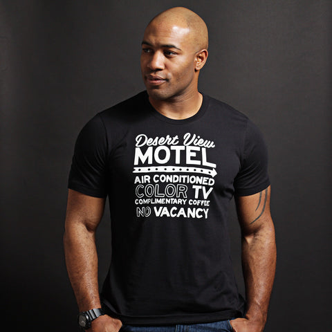 Desert View - Black Unisex short sleeve t-shirt