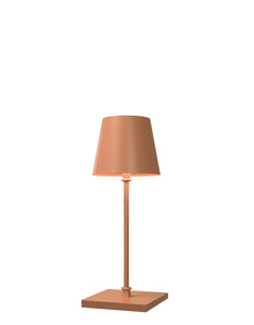 FIRENZE Lampada Led da tavolo Made in Italy color arancio h30