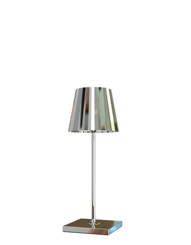 VENEZIA CROMO h30 Lampada Led da tavolo Made in Italy color cromo