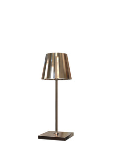 VENEZIA CROMO Lampada Led da tavolo Made in Italy color bronzo h30