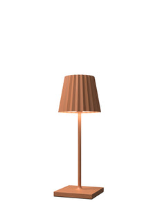 VENEZIA Lampada Led da tavolo Made in Italy color arancio h30