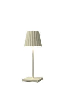 VENEZIA Lampada Led da tavolo Made in Italy color panna h30