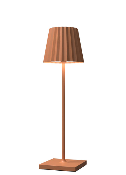VENEZIA Lampada Led da tavolo Made in Italy color arancio h38