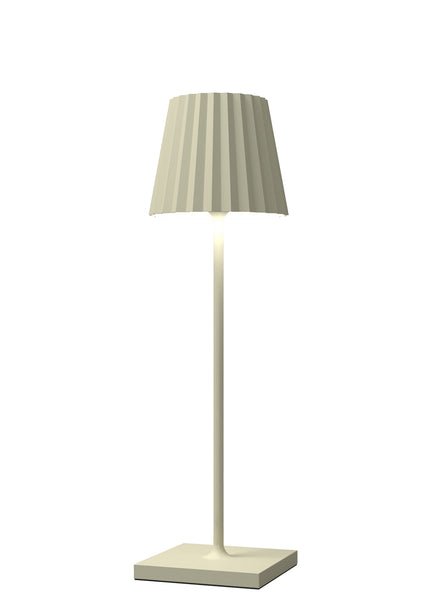 VENEZIA Lampada Led da tavolo Made in Italy color panna h38