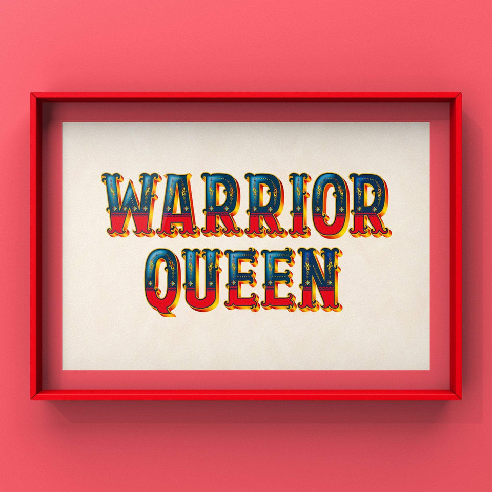 Warrior Queen (Red) Print