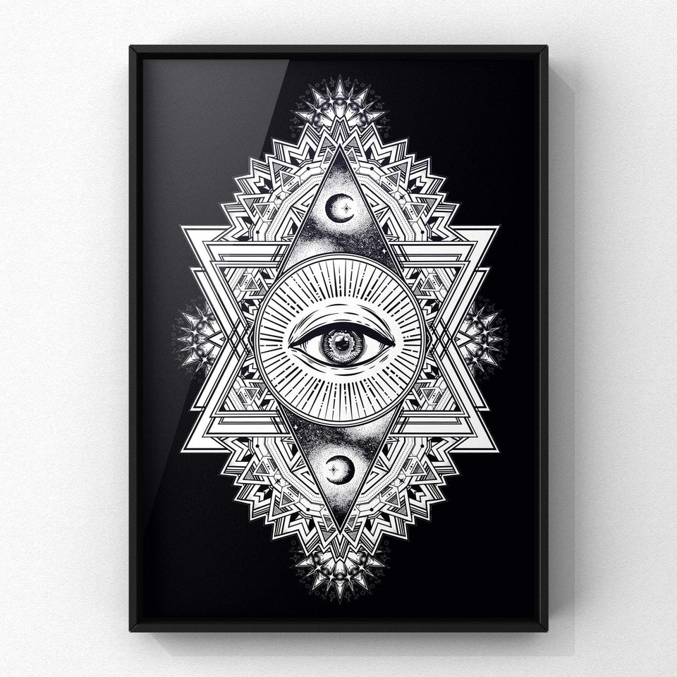 All Seeing Everything (Black) Print