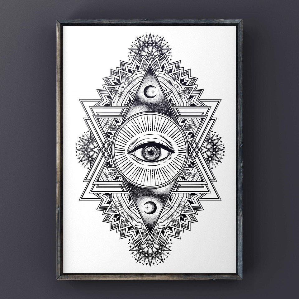 All Seeing Everything (White) Print