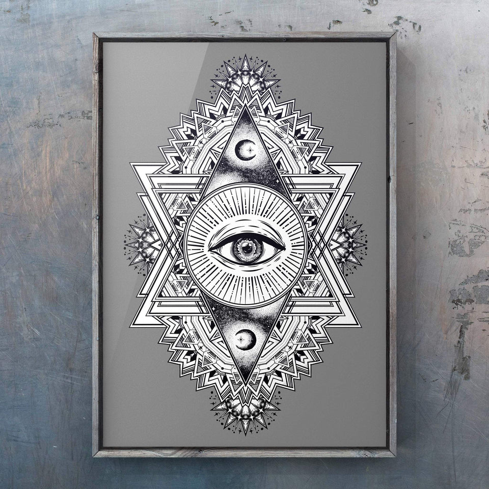 All Seeing Everything (Grey) Print