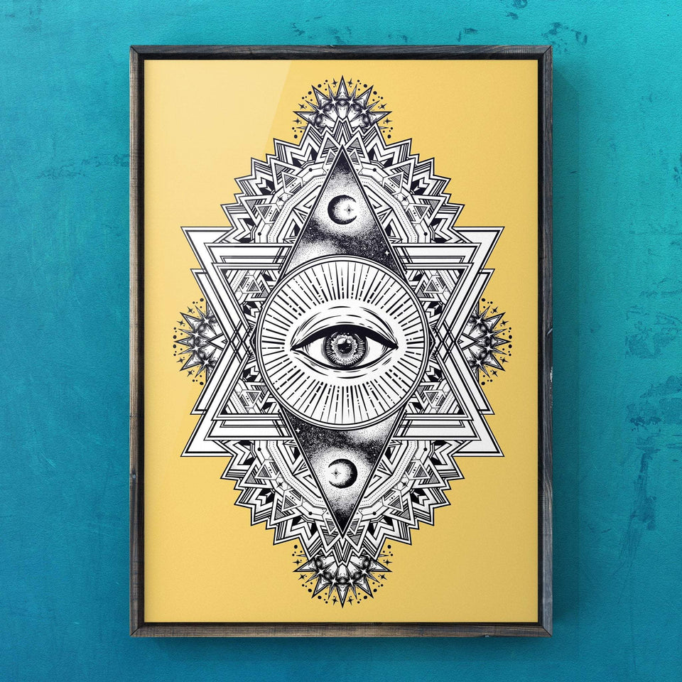 All Seeing Everything (Yellow) Print