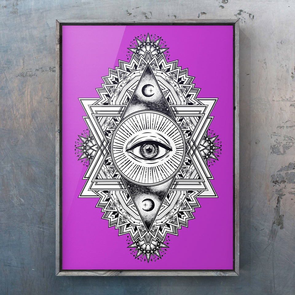 All Seeing Everything (Purple) Print