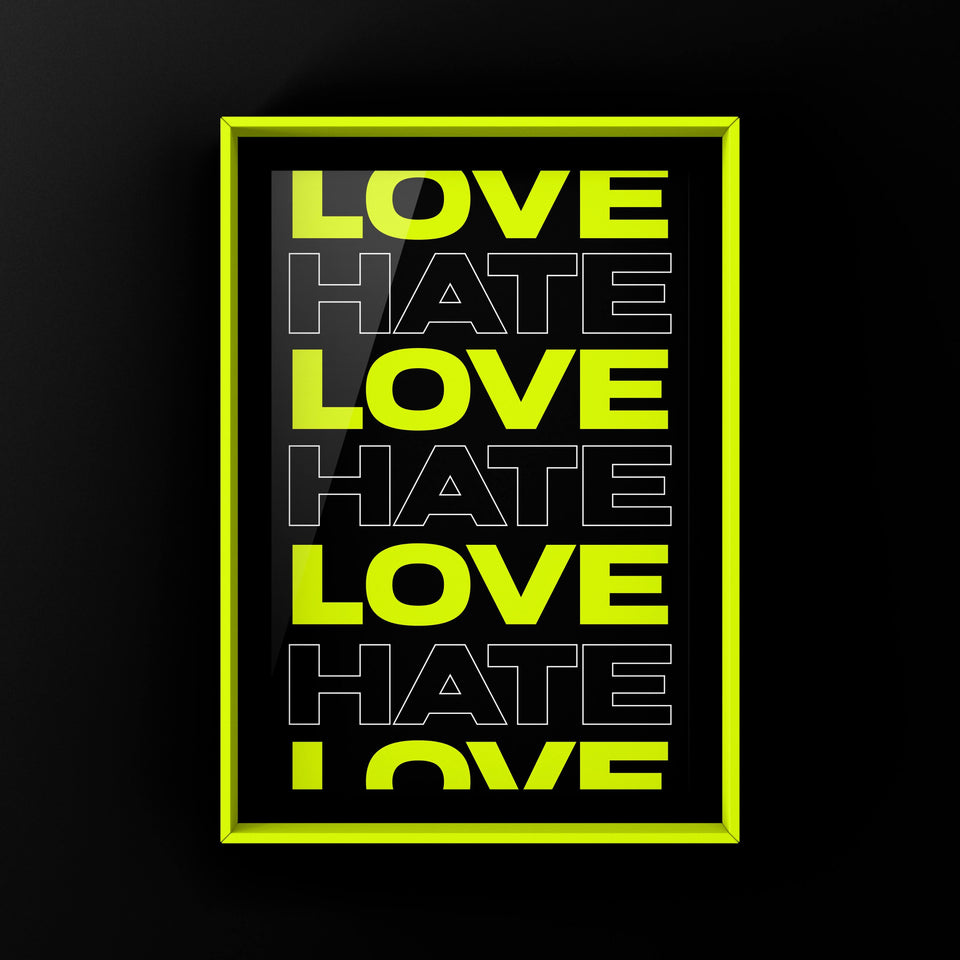 Love/Hate Neon Green