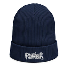 Load image into Gallery viewer, P.O.W.E.R. Organic ribbed beanie