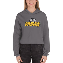 Load image into Gallery viewer, P.O.W.E.R. Fitness Crop Hoodie