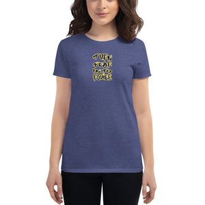 Women's short sleeve fitted t-shirt