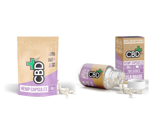 CBD +FX Hemp Capsules 200mg + 750mg packs