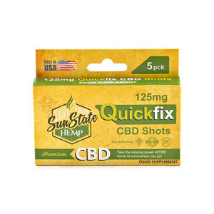 Sun State Hemp 125mg CBD Quick Fix CBD Shot - 5 Pack