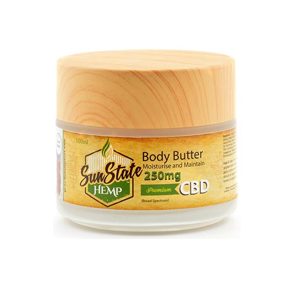 Sun State Hemp 250mg CBD Body Butter 100ml