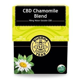 BUDDHA TEAS CBD CHAMOMILE BLEND 5MG PER TEA BAG (90MG) - 18PCS