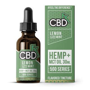 CBDFX LEMON LIME & MINT OIL 500MG - 1500MG - 30ML