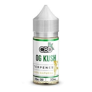 CBDFX CBD TERPENE INFUSED E-LIQUID OG KUSH 250MG - 500MG - 30ML