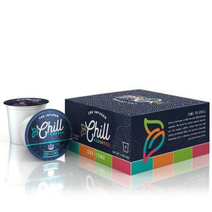 CHILL CBD ASSORTED COFFEE/TEA PODS 100MG - 4 PACK