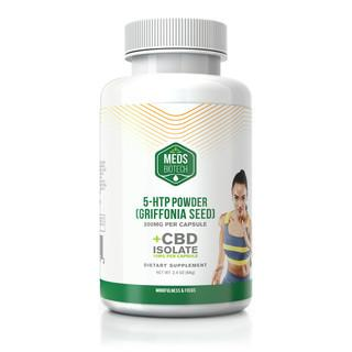 MEDS BIOTECH CBD 5-HTP GRIFFONIA SEED EXTRACT CAPSULES - 500MG