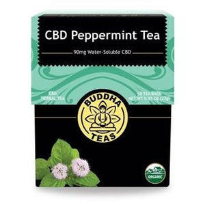 BUDDHA TEAS CBD PEPPERMINT INFUSION 5MG PER TEA BAG (90MG) - 18PCS