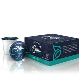 CHILL CBD COFFEE PODS 100MG - 4 PACK
