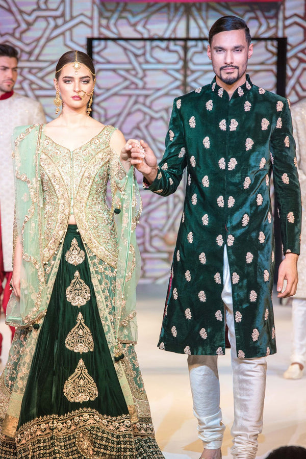 Mint & Emerald Jacket Lehenga and Sherwani