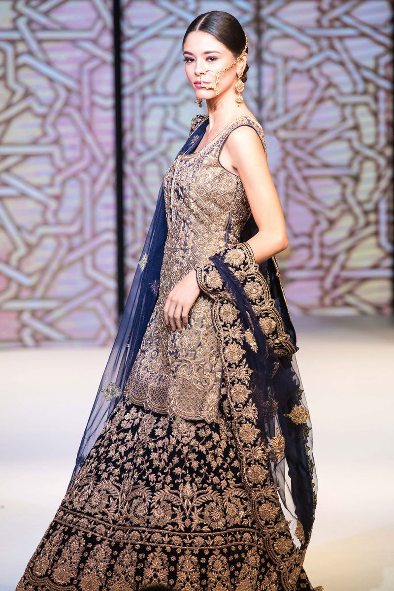 Navy Kameez and Lehenga