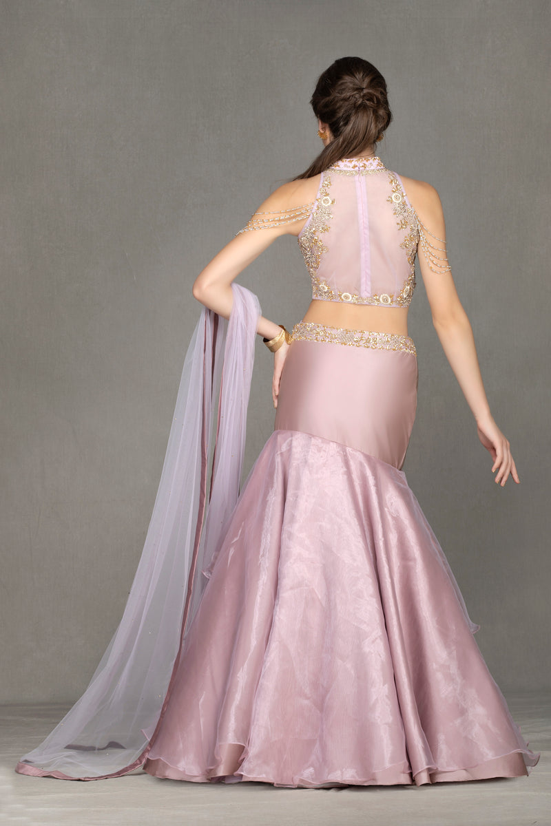 Halter-Neck and Fish-cut Lehenga