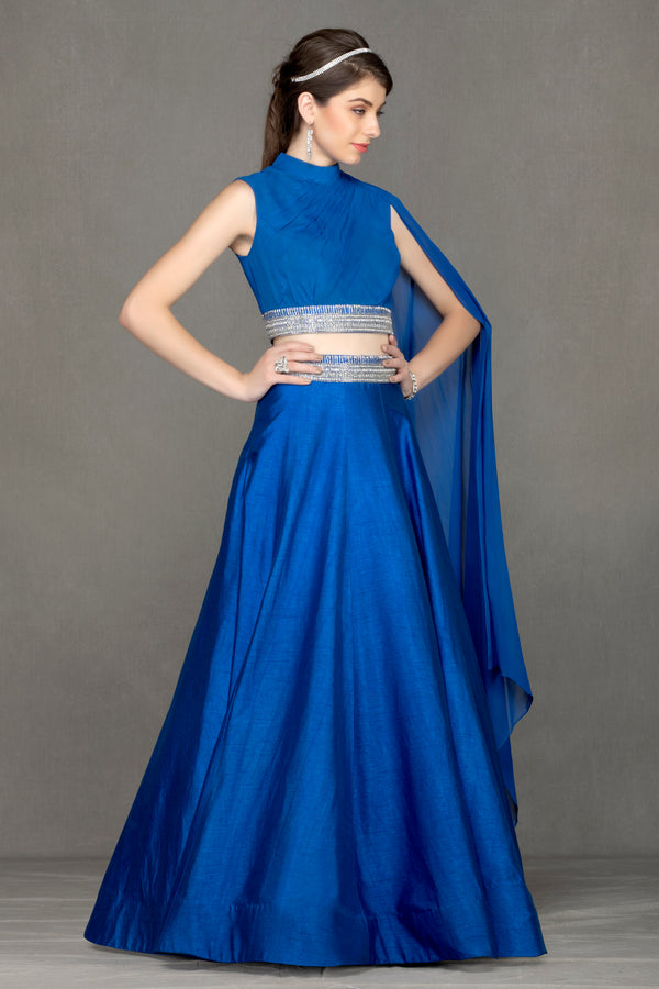 Elegant lehenga with Royal Blue top & Skirt