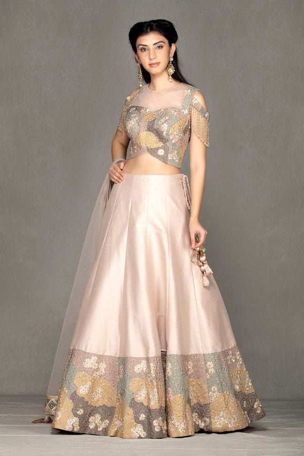Cold Shoulder Lehenga