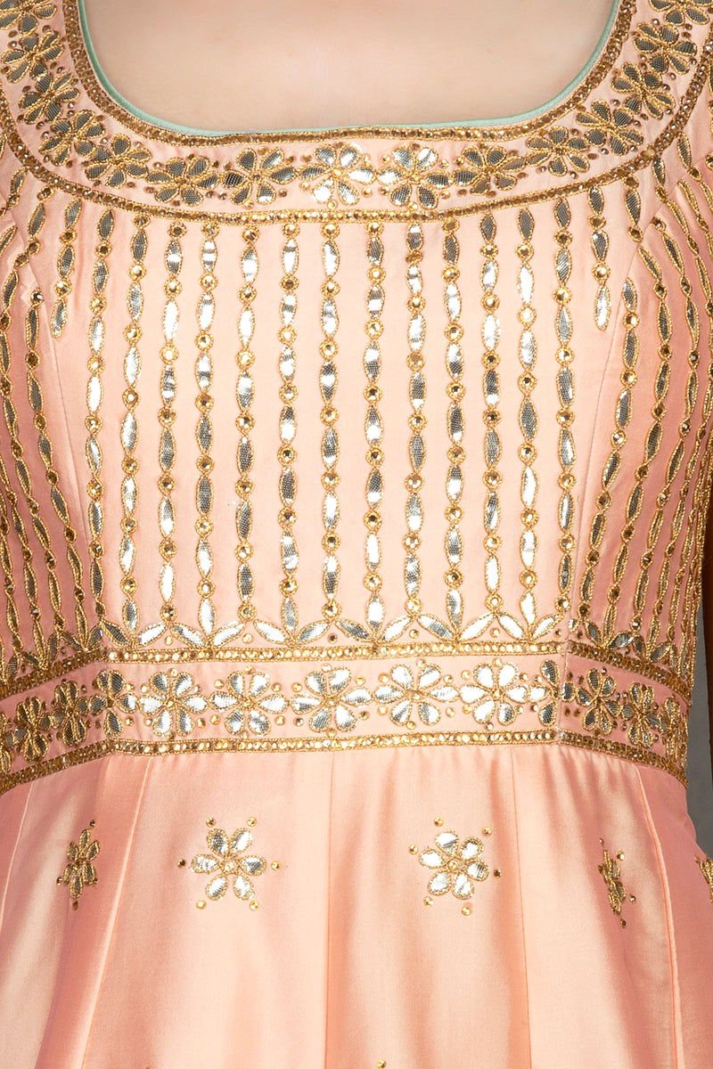 Peach Anarkali Gown