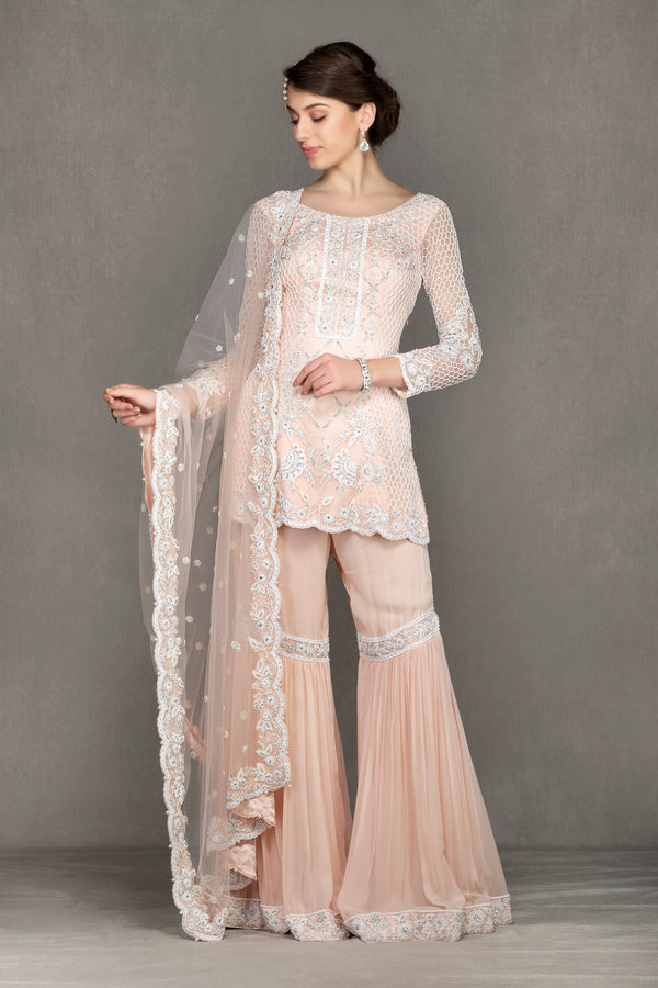 Georgette Sharara with Embroidered Top