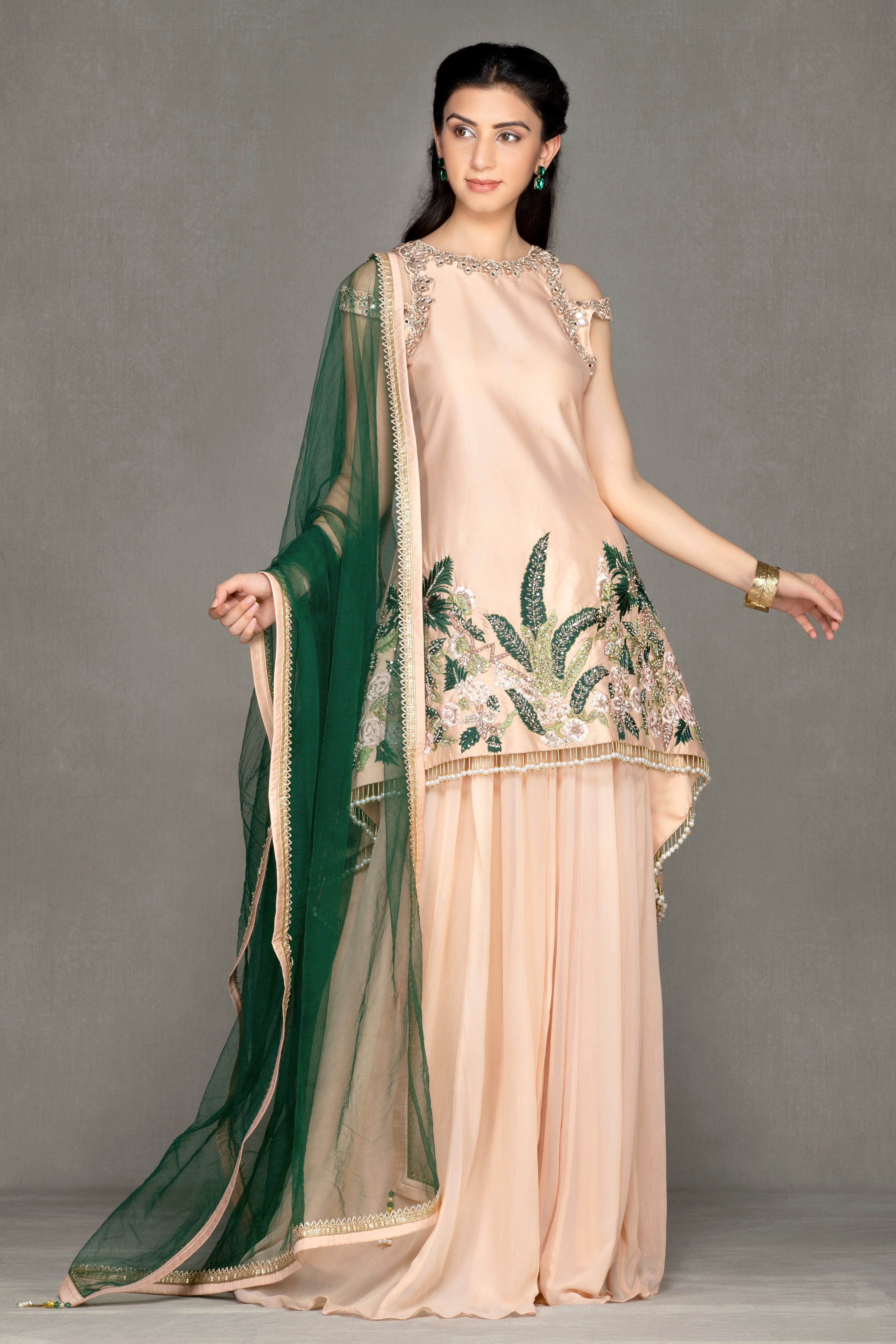 Long Tail top Sharara/Plazzo