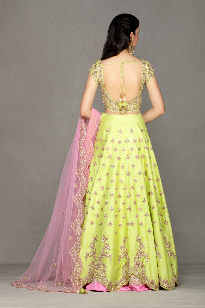 Bridal/Semi-Bridal Lehenga with Dabka work
