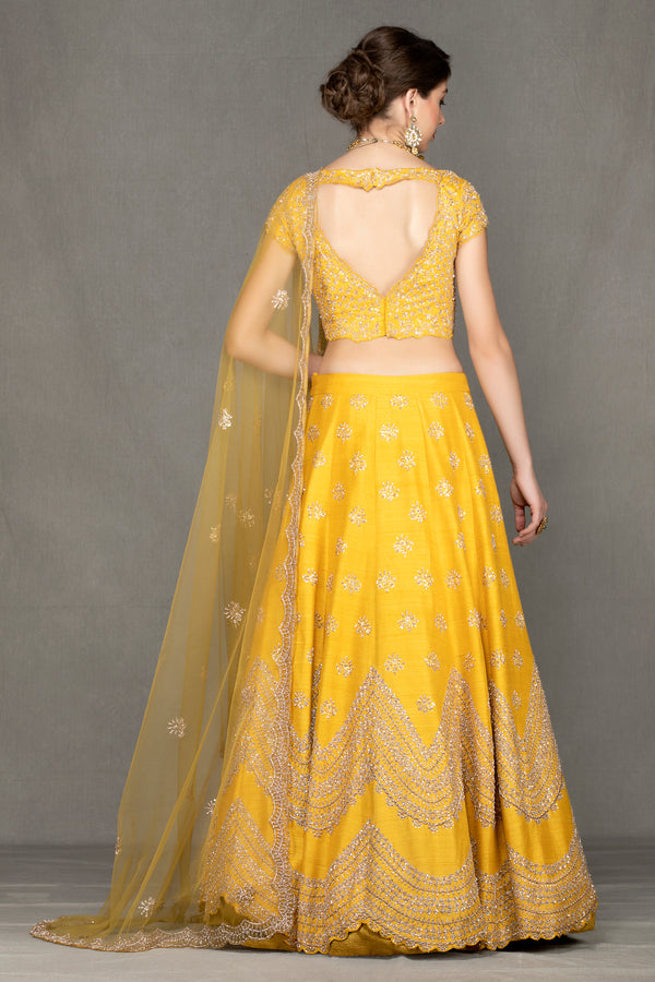 Yellow Bridal Lehenga
