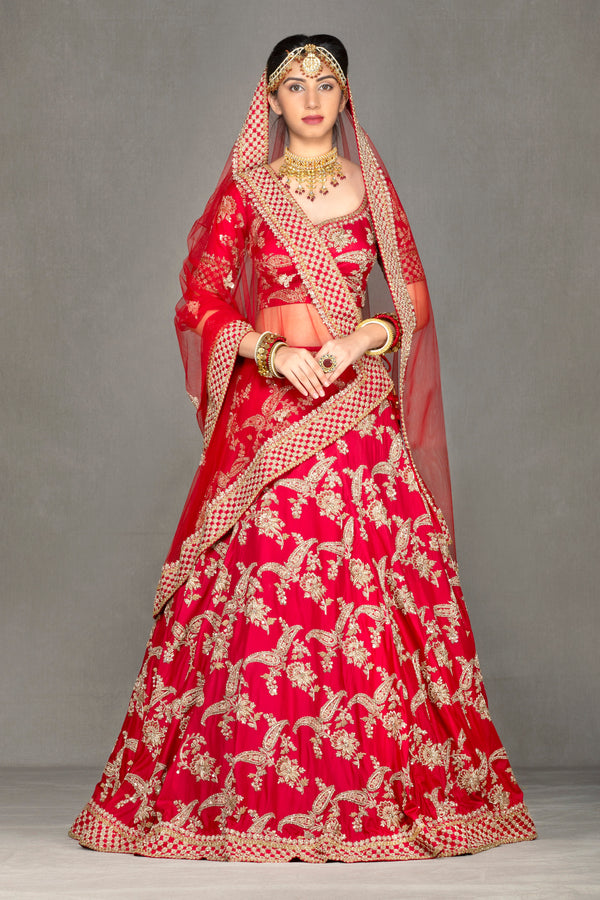 Red Traditional Lehenga