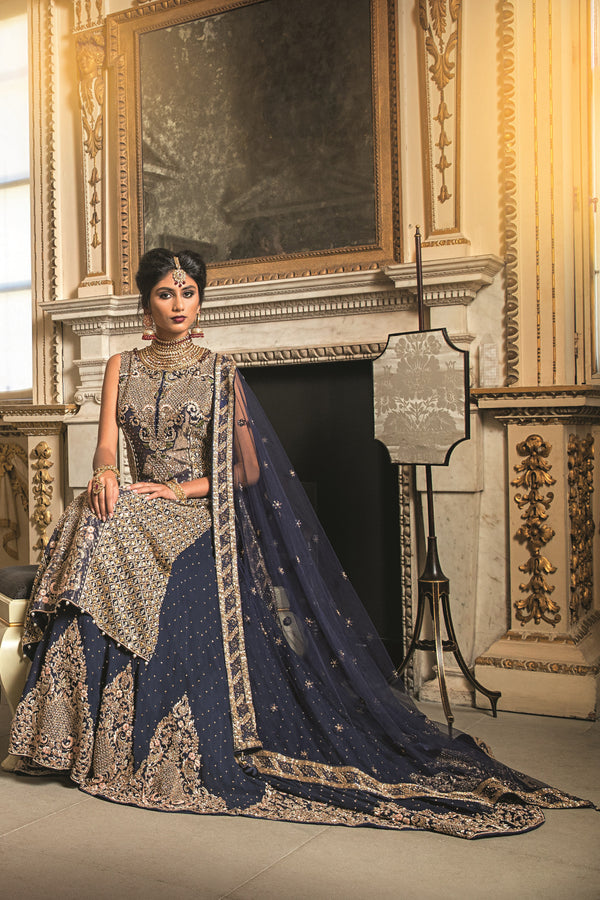 Navy Kameez and Bridal Lehnga